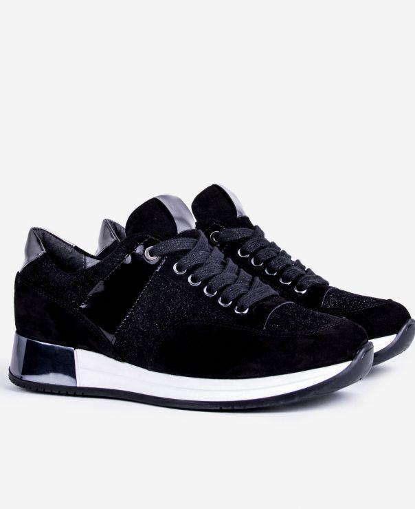 Czarne buty sportowe 7003-Z003-i612